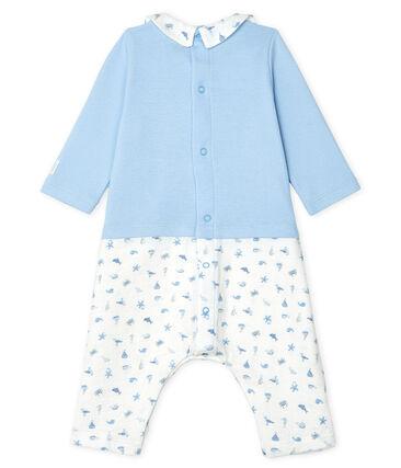Combinaison longue bébé garçon bleu Jasmin / blanc Multico