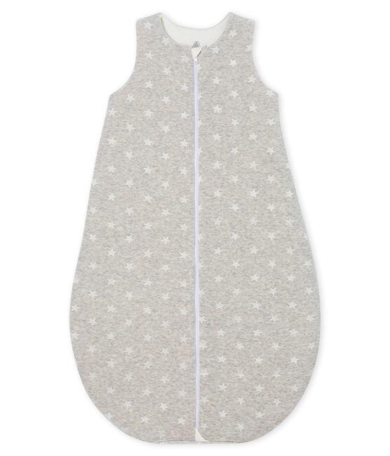 Gigoteuse bébé garçon en velours gris Beluga / blanc Marshmallow