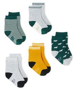 Lot de 5 paires de chaussettes bébé garçon