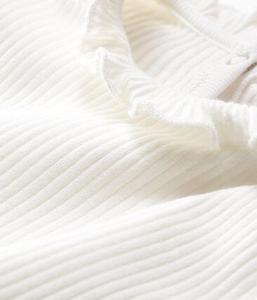 Blouse manches longues bébé fille unie blanc Marshmallow