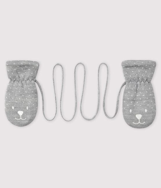Moufles bébé doublée micropolaire gris Subway