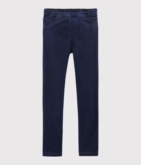 Pantalon en denim enfant fille bleu Denim Bleu Fonce