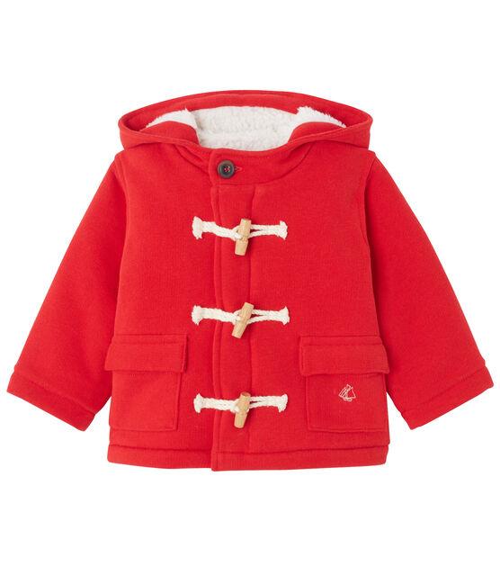 Duffle coat bébé mixte en molleton rouge Froufrou