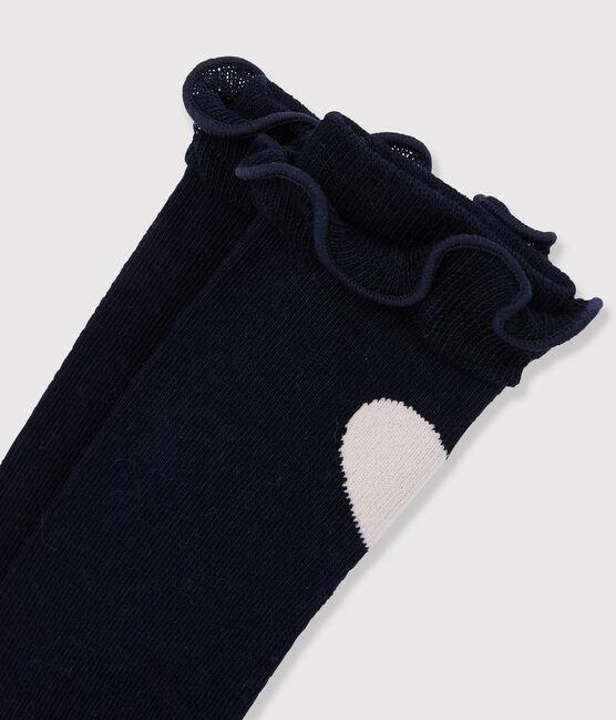 Chaussettes hautes enfant fille bleu Smoking