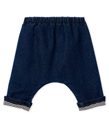 Pantalon double maille effet denim bébé mixte