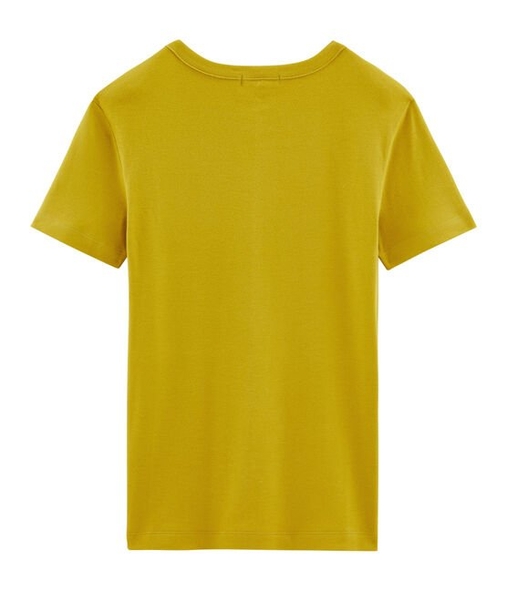 Tee-shirt manches courtes col rond femme jaune Bamboo