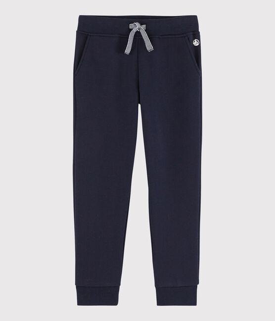 Pantalon de jogging en molleton enfant garçon bleu Smoking