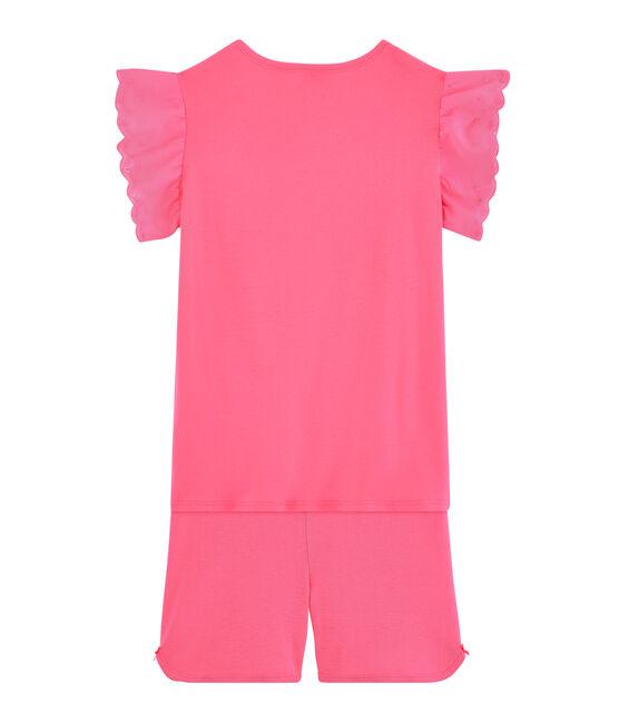 Pyjacourt petite fille en côte rose Cupcake