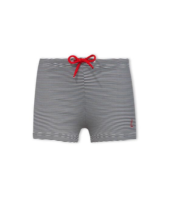 Maillot de bain UPF 50+ bébé garçon bleu Abysse / blanc Lait