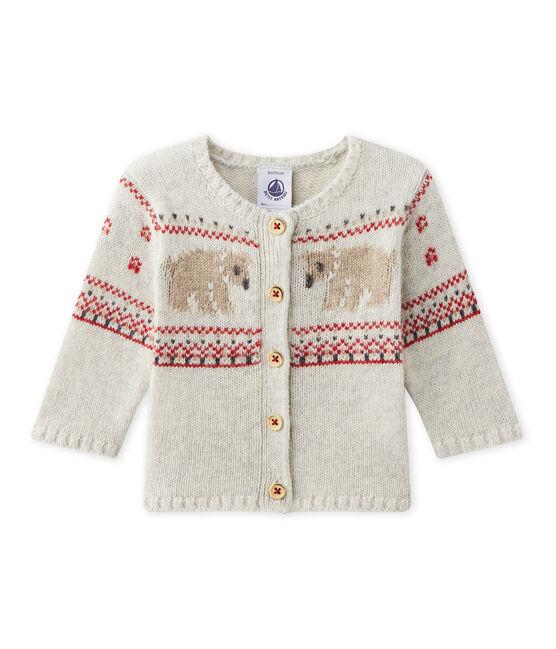 Cardigan bébé mixte en tricot gris Montelimar Chine