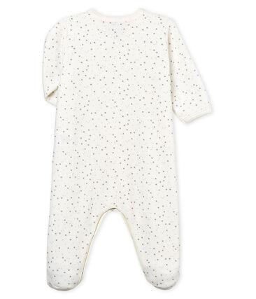 Dors bien bébé mixte en velours blanc Marshmallow / gris Concrete