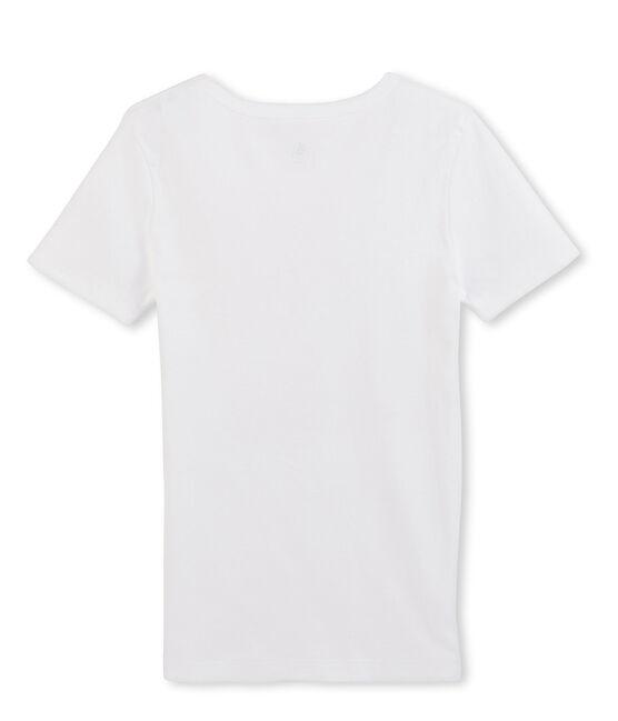 Tee shirt manches courtes iconique homme blanc Ecume