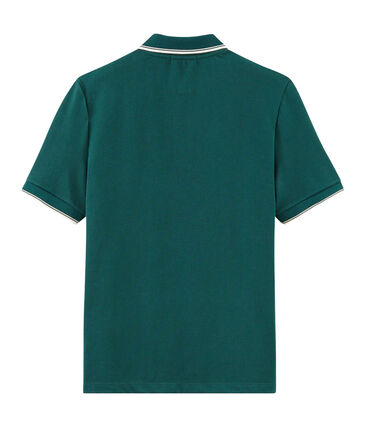 Polo manches courtes homme vert Pinede