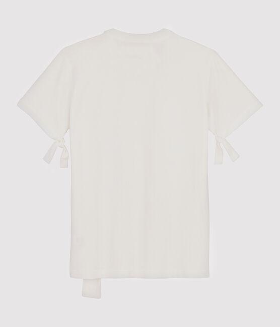 Tee shirt Femme/Homme Christoph Rumpf x Petit Bateau blanc Marshmallow