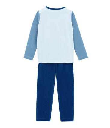 Pyjama petit garçon bleu Limoges / blanc Multico