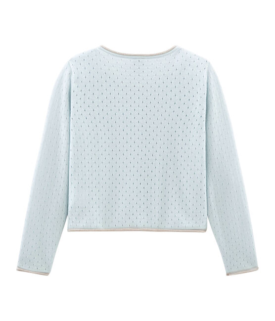 Cardigan enfant fille bleu Bocal