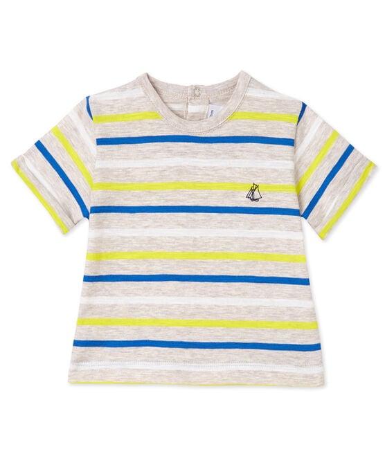 T-shirt bébé garçon rayé beige Creamy / blanc Multico