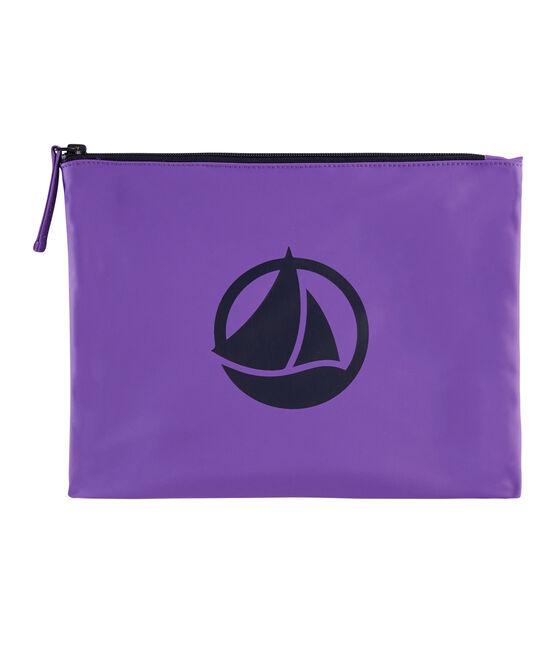 Pochette unie violet Real