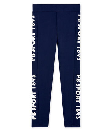 Legging de sport enfant fille bleu Smoking