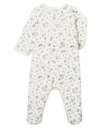 Dors bien bébé fille en velours blanc Marshmallow / blanc Multico