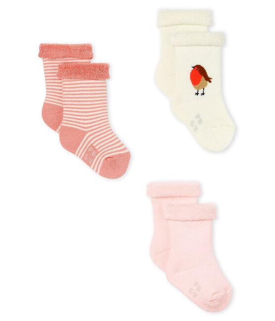 Lot composé de 3 paires de chaussettes en éponge, moelleuses et confortables. lot .