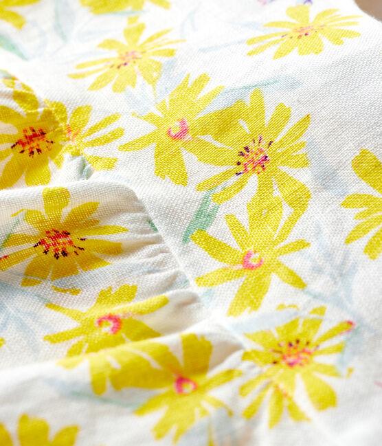 Blouse bébé fille en lin blanc Marshmallow / blanc Multico