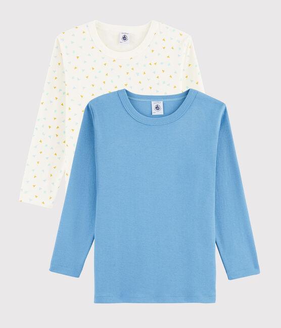 Lot de 2 tee-shirts manches longues imprimé géométrique petit garçon lot .