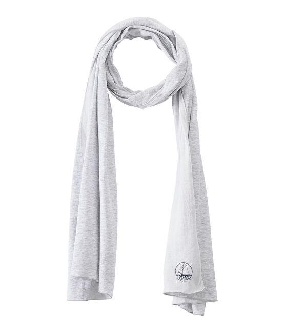 Echarpe femme gris Poussiere / blanc Lait