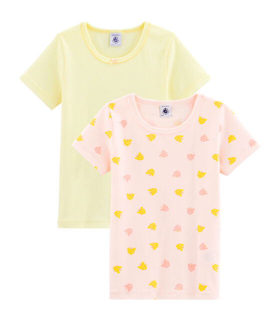 Duo de tee-shirts petite fille lot .