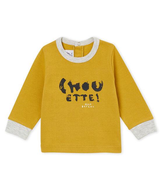 tee-shirt bébé garçon jaune Inca