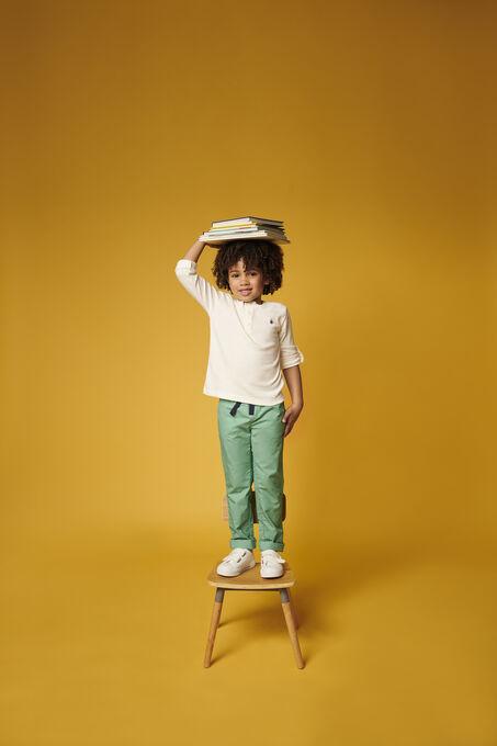 Pantalon en serge enfant garçon vert Aloevera