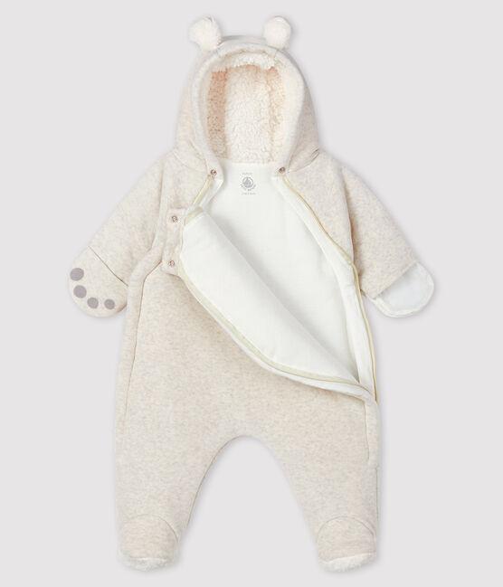 Combipilote ours bébé en velours gris Montelimar Chine