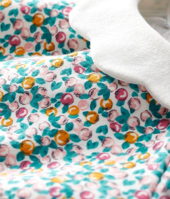 Blouse manches longues bébé fille blanc Marshmallow / blanc Multico