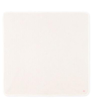 Drap de maternité bébé en côte blanc Marshmallow / rose Charme