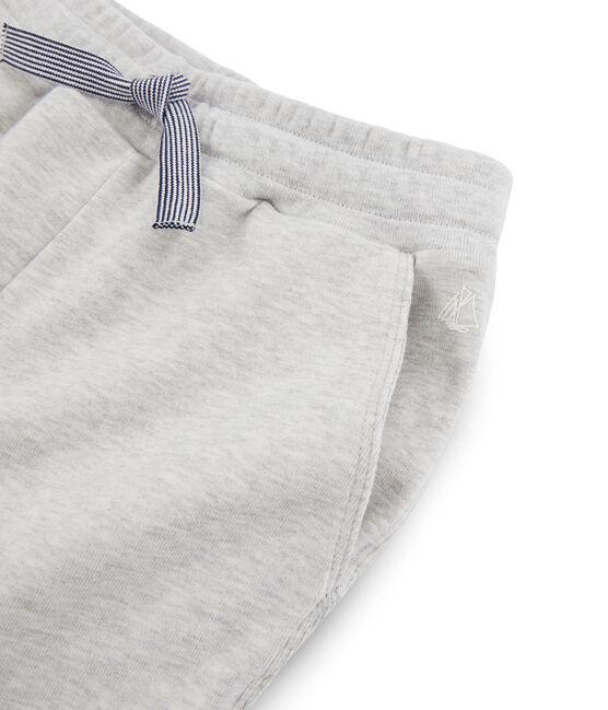 Pantalon maille enfant garcon gris Beluga