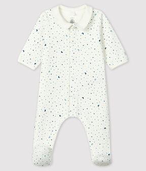 Dors-bien nuit étoilée bébé garçon en tubique blanc Marshmallow / blanc Multico