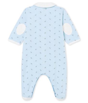 Dors bien bébé garçon en tubique imprimé bleu Fraicheur / blanc Multico