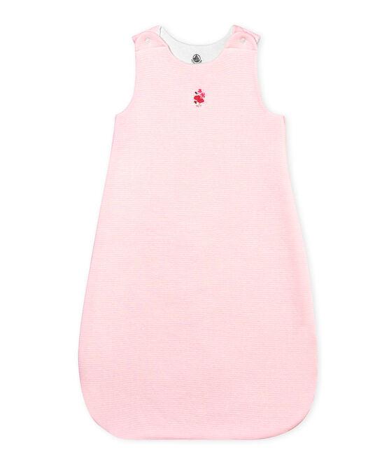 Gigoteuse bébé mixte milleraies rose Vienne / blanc Marshmallow