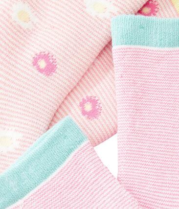 Lot de 2 paires de chaussettes enfant fille null