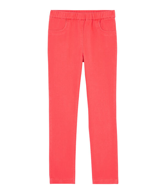 Jean slim stretch enfant fille rose Groseiller