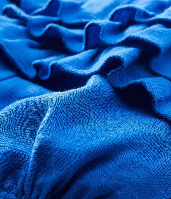 Culotte bloomer bébé fille en lin bleu Riyadh