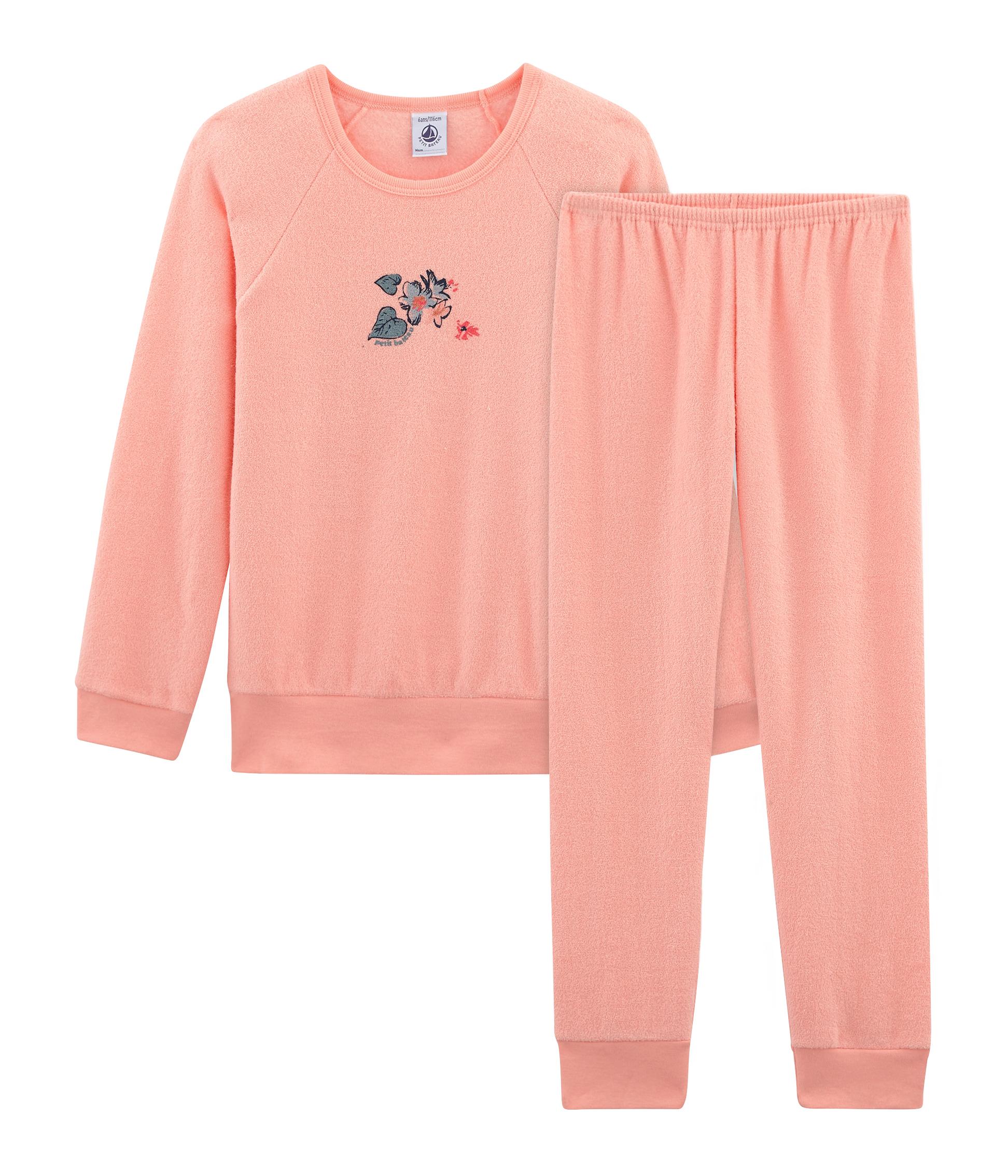 23ec72965c714 Pyjama petite fille en bouclette éponge grattée