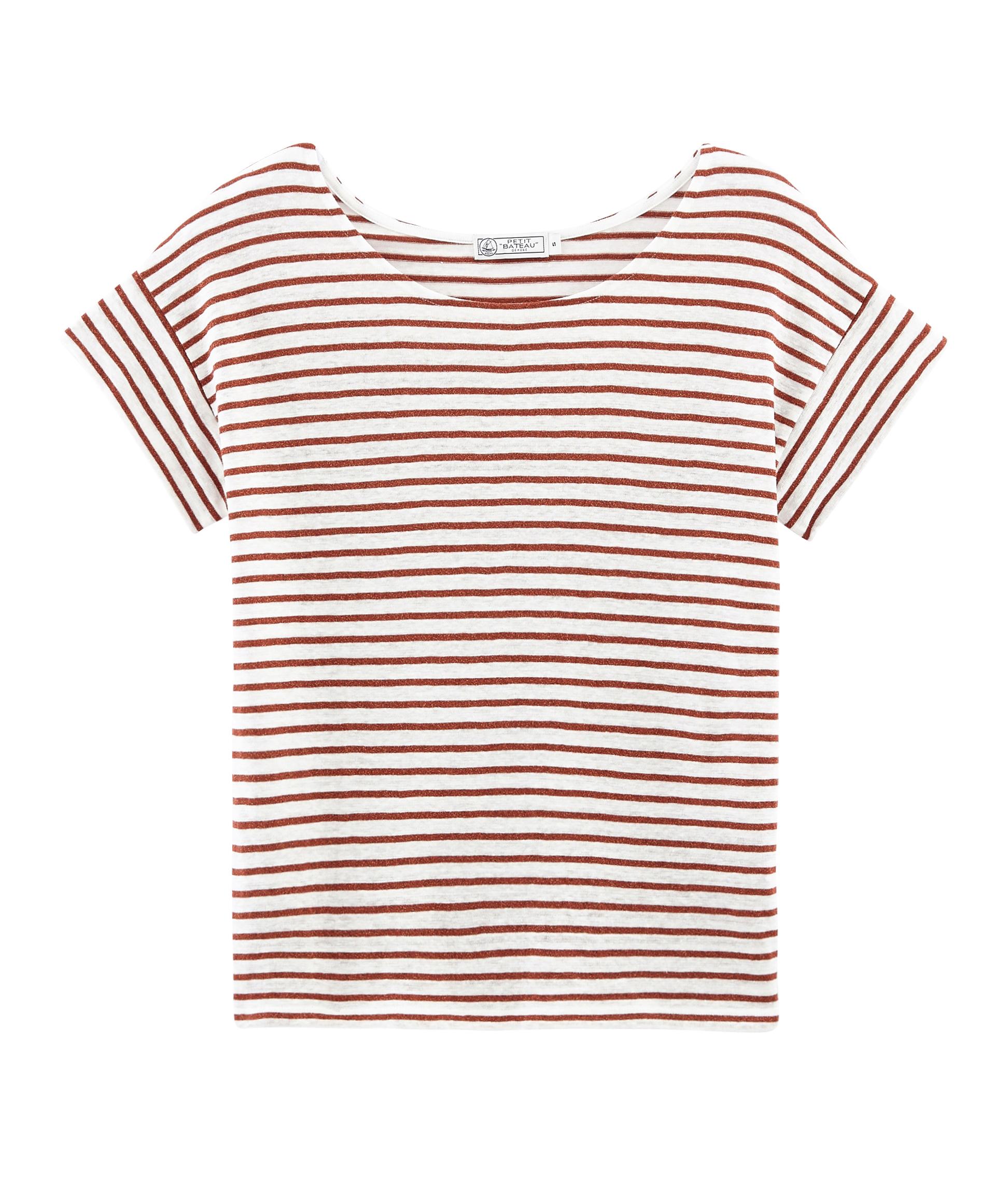 8db90c8c4aae8 Tee-shirt manches courtes femme en lin